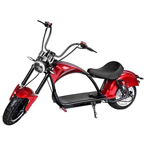 LZMXMYS Elektrisches Fahrrad, elektrische Roller pendeln 2000W High Power Motor 60V20A Lithium-Batterie Erwachsener...