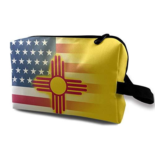 USA New Mexico State Flag Petits Sacs à cosmétiques Voyage Maquillage Sac À La Mode Organisateur