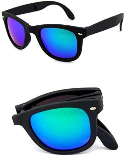 ZYIZEE Gafas de Sol Caja Original Gafas de Sol para Hombre Uv400 Gafas de Sol plegadas Espejo Plegable Gafas de Sol Plegables Gafas de Mujer Gafas-7