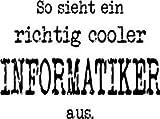 Mister Merchandise Herren Hoodie Kapuzenpullover So sieht ein richtig Cooler Informatiker aus. Informatik , Größe: XXL, Farbe: Schwarz - 2
