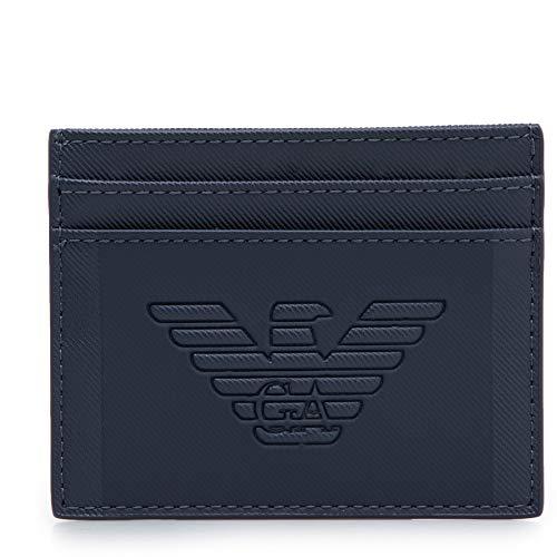 Emporio Armani fundas para tarjetas de visita hombre navy blue
