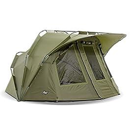 Lucx® Lion Tente de pêche bivouac 1 à 2 personnes Tente dôme pour pêche à la carpe Colonne d'eau 10 000 mm – Tente de camping