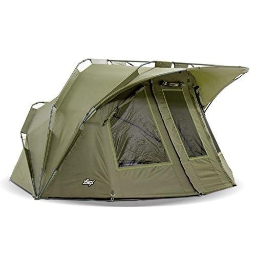 Lucx® Lion Angelzelt Bivvy 1-2 Mann Karpfenzelt Carp Dome Angler Zelt 10.000mm Wassersäule - Campingzelt