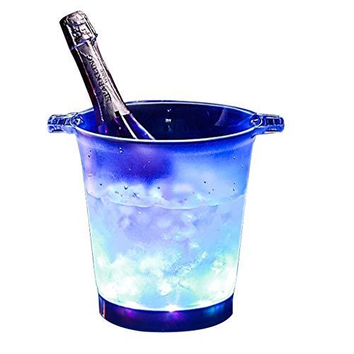 Djy-jy Seaux Seau à glace couleurs changeantes LED Cooler Seau grande capacité Champagne Boissons vin Seau à bière for KTV Bar Party Accueil Mariage SYHZHY
