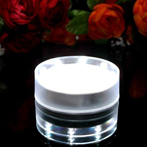 PK Green Base lumière LED avec 15 LED très Lumineuses pour vases, centres de Table