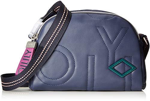 Oilily Damen Gladdy Shoulderbag Shz Schultertasche Blau (Dark Blue)