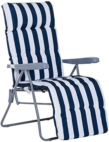 Cisne 2013, S.L. Cojín para Tumbona Diseño Rayas Azules. Colchón Tumbona Acolchada Classic Medidas 180x50x5cm. NO Incluye LA Silla