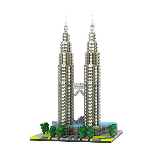 VSUK Bloque De Construcción, Bloque De Construcción Torres Petronas Building Block Set 2351 + Pcs Nano Mini Blocks DIY Toys,3D Puzzle DIY Educational Toy, Multicolor, Niños
