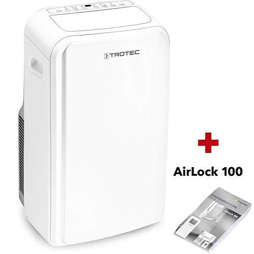 TROTEC Lokales Klimagerät PAC 3500 SH mobile 3,5 kW Klimaanlage 4-in-1-Klimagerät zur Kühlung Klimatisierung und Heizung 2,9kW [EEK A] ink. Airlock 100