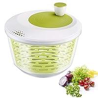 westmark centrifuga per insalata, capacità: 4,4 litri, ø 23,5 cm, plastica, senza bpa, spinderella, colore: trasparente/bianco/verde, 2430224a