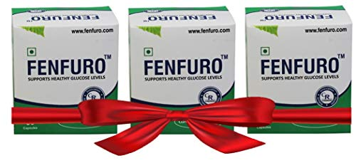 Fenfuro diabetes supplement for healthy blood glucose/blood sugar, patented, clinically evaluated, natural -30 capsules (Pack of 3)