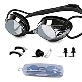 NEWXLT Swimming Goggles, Adjustable Swim Goggles Anti Fog UV Protection Triathlon with Free