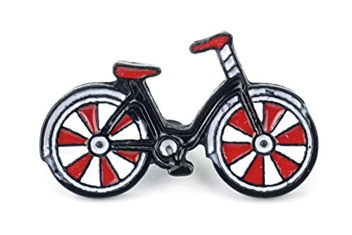 Naehgedoens.de - Spilla a Forma di Bicicletta Rossa, Bianca, Nera