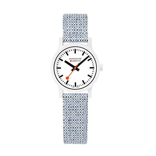 Mondaine Essence, orologio al quarzo per uomini e donne sostenibile, con...