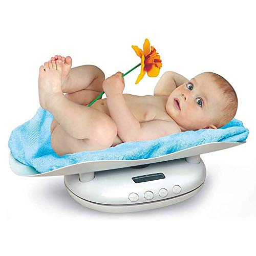 MMUY-1 Báscula digital para bebé con pantalla LCD, diseño ergonómico y apagado automático, para niños pequeños y adultos
