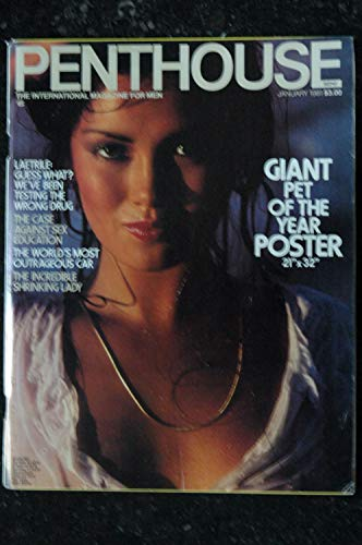 PENTHOUSE US 1981/01 + POSTER GIANT Suzee Kari Burton Wendy Welles Robert Altman The Case Against Sex Education Thomas Szasz