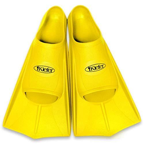 Kiefer 800093-G Silicone Training Swim Fins, Men's Size 14-15, Yellow