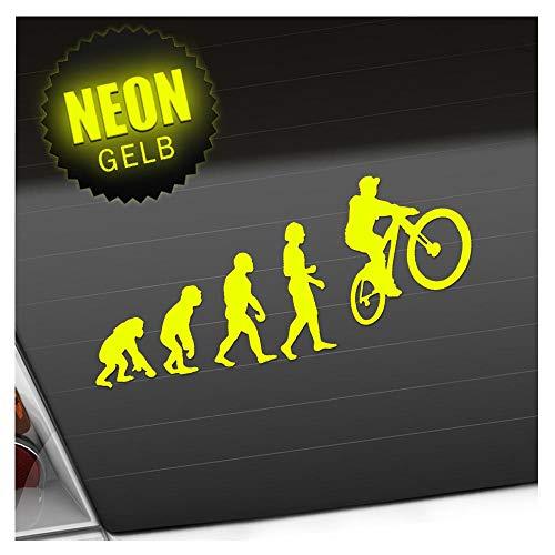Kiwistar Evolution Mountain Bike Cycling 20 x 8.5 cm in 15 Colours Neon + Chrome Sticker sticker.