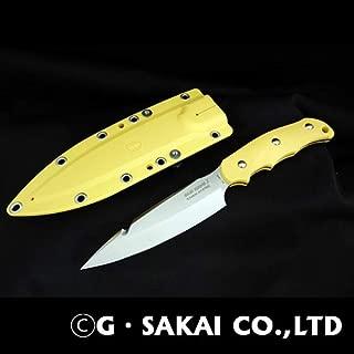 ジー・サカイ(G・SAKAI) SABIKNIFE3(4.5寸)FRNイエロー ガットフック付き 11501 イエロー