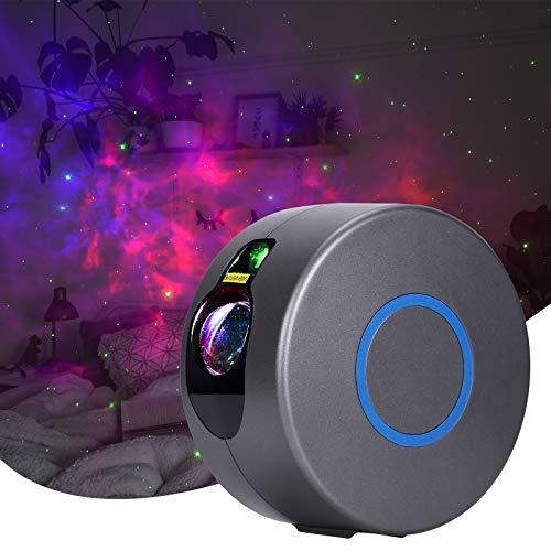 SerDa-Run Ultra Leiser Sternenhimmel Projektor, Kinder Nachtlichter LED Nachttischlampe mit 3D Effekt/Fernbedienung/360°Drehen für Heimkino, Party,Zelt,Kinderzimmer (Grau)
