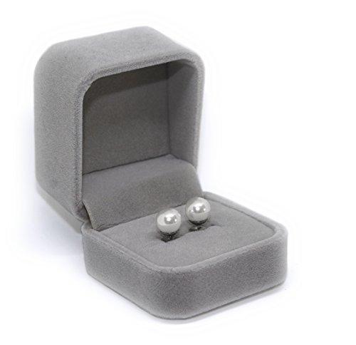Orecchini Perla Bianca   Wild Child Jewelry   8Mm Classici Eleganti   Perla Sintetica E Acciaio Inossidabile   Confezione Regalo