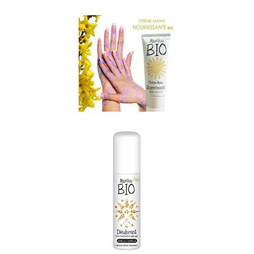 Duo de produit de beauté MARILOU BIO - Crème pour les mains nourrissante - Déodorant vanille