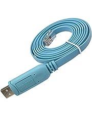 DSD TECH SH-RJ45A Cable de consola USB a RJ45 con chip FTDI para Cisco NETGEAR router / switch, soporte para Windows Linux Mac OS