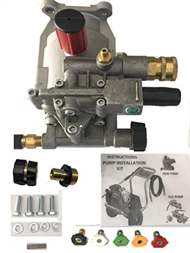 Deluxe Pumps-n-More Excell Replacement Pressure Washer Water Pump for Honda Excell XR2500 XR2600 XC2600 EXHA2425 XR2625 Pump Kit with Garden Hose Quick Connect and Pressure Quick Coupler