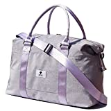 ESVAN Travel Tote Duffel Gym Bag,Weekender Overnight Carry-on Tote Crossbody Bag with Wet Pocket and Trolley Sleeve Upgraded