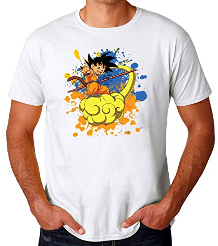 Cloud Boy | Dragon Ball | DBZ | Goku | Manga | Anime Series | Super Hero | Cute | Swag | Cool | Like A | Dope Camiseta para Hombres XX-Large