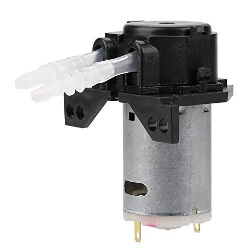 FTVOGUE Bomba Peristáltica DC12V / 24V Bomba Dosificadora DIY Cabeza de Tubo Peristáltico Para el Laboratorio de Análisis Químico Químico(Black 12v 3*5)