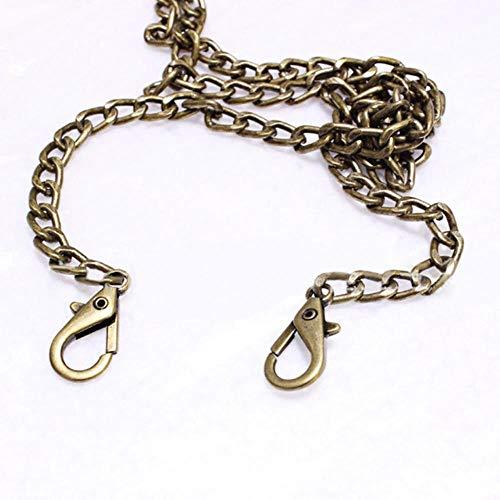Coner Handtas Metalen kettingen Schoudertas Riem Portemonnee Keten Goud Zilver Zakgrepen Tas Accessoires Ketting, Brons, 60cm