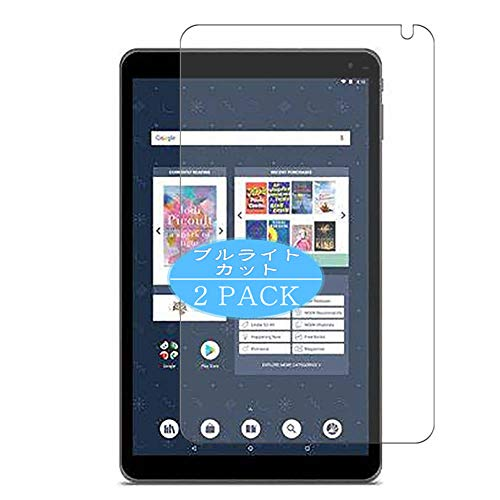 VacFun 2 Pezzi Anti Luce Blu Pellicola Protettiva, Compatibile con Barnes & Noble Nook Tablet 10.1 inch (Non Vetro Temperato) Protezioni Schermo Cover Custodia