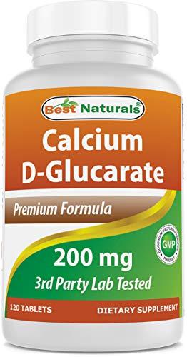 Best Naturals Calcium D-Glucarate 200 mg 120 Tablets