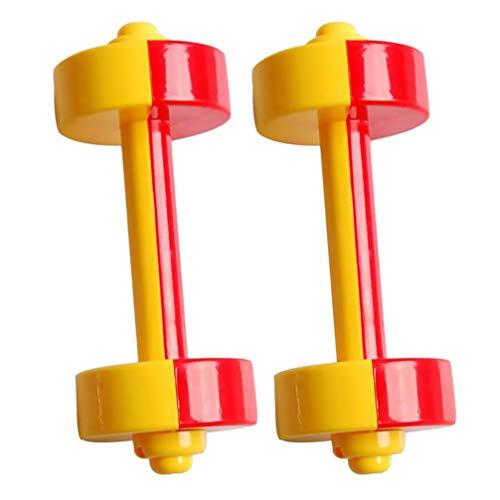 TomaiBaby 1 par de Mancuernas para Niños de Juguete de Plástico Mancuernas de Deporte de Fitness de Juguete de Jardín de Infantes Equipo de Levantamiento de Pesas para Niños en Casa