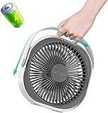 2020 NEU SUPER WINDKRAFT: LaHuko tragbarer Ventilator Tischventilator,FAN,Wandventilator,3 Geschwindigkeiten,Luftkühler,Einfach zu Tragen,ideal für Büro, Zuhause,Outdoor,USB Aufladung (L)