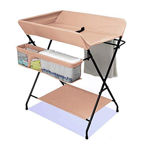 table /à langer Baby Portable Changer Station Pliable pour Nouveau-N/é Et Nourrisson avec Tablette De Rangement Inf/éRieure 81x56x82cm