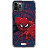 Skinit Clear Phone Case Compatible with iPhone 11 Pro Max - Officially Licensed Marvel/Disney Spider-Man Crawls Design