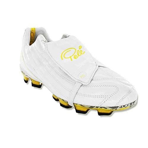 Pelé Sports Men's Football Boots - Botas de fútbol para Hombre PELÉ 1962 FG MS (Pearlized White, Fraction_46_and_1_Third)