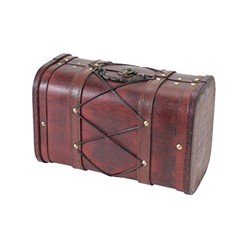 HMF 6407-128 Schatztruhe aus Holz | 28 x 18 x 14 cm | Klein | Tunesien