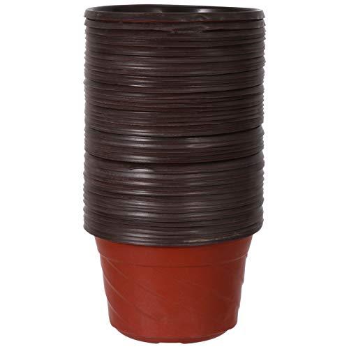 Scicalife 50 Piezas Macetas de Plástico Macetas de Plantas Reutilizables Macetas de Vivero Macetas de Plástico Impermeables Macetas de Inicio para Macetas de Jardín Pequeñas para