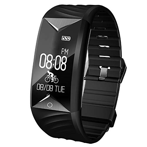 Willful Fitness Tracker, Fitness Watch Heart Rate Monitor Watch Pedometer Waterproof with Step Counter,Calories,Sleep Monitor,Alarms,Music Control,Call SMS SNS Notice for Men Women Kids Black