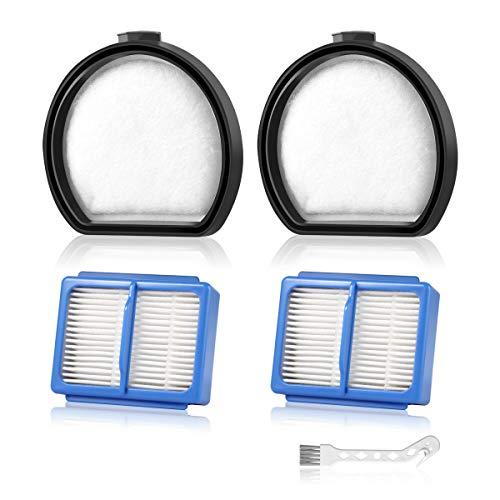 AIEVE 4er Filter kompatibel mit AEG QX9, 2 STK. Vormotorfilter und 2 STK. Hygienefilter Ersatzfilter Set Zubehör und Reinigungsbürste kompatibel mit AEG QX9 Staubsauger