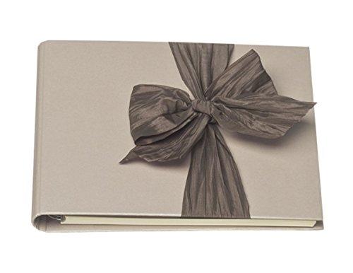 Rössler 1877426006 Gasten- en Fotoalbum met strik, 230 x 220 mm, 80 pagina's, 1 stuks, mokkca metallic