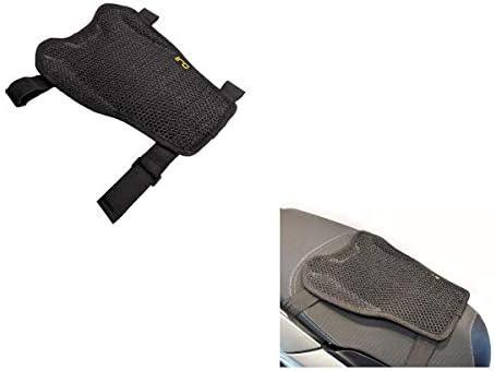 M207 OJ - Cojín de asiento de red transpirable antideslizante para moto y scooter, talla M, 28 x 15 x 32 cm, compatible con Brixton