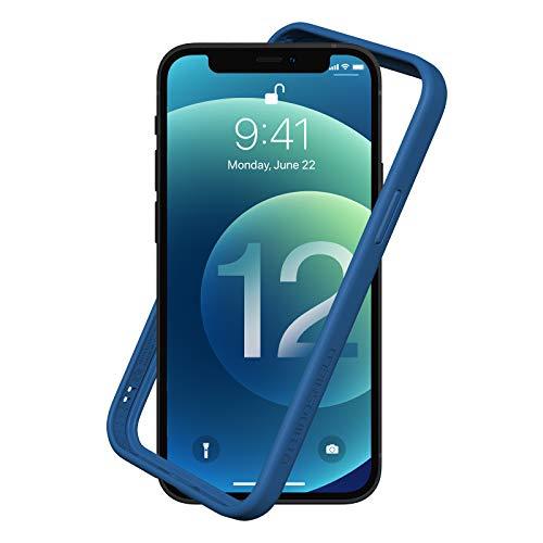 RhinoShield Bumper Case kompatibel mit [iPhone 12/12 Pro] | CrashGuard NX - Schockabsorbierende Dünne Schutzhülle 3.5 Meter Fallschutz - Königsblau