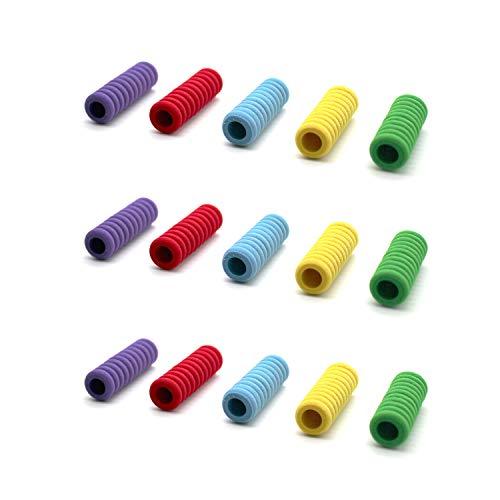 YFaith 40 Stück Stiftgriffe Schaumstoff,Rutschfeste Stiftgriffe,Ergonomische Stiftehalter,Schreibhilfen,Komfort Handschreibgriff für Kinder Studenten Erwachsene(Mehrfarbig)