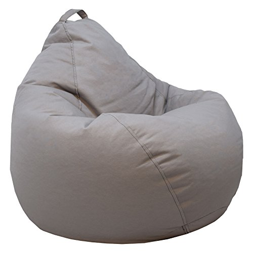 Ace Casual Casual Denim Teardrop Bean Bag Chair, Gray chair gaming gray