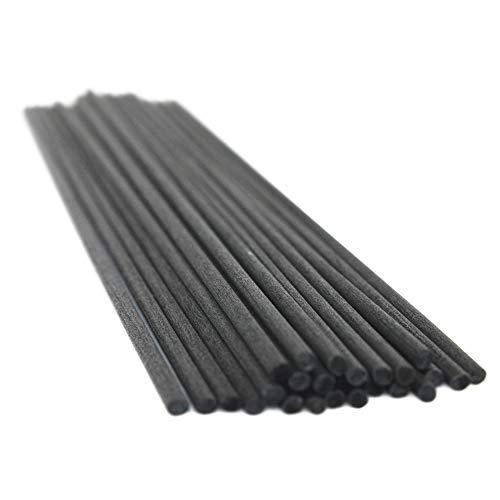 Frandy House Reed - Varillas de fibra para difusor (60 unidades, 12 x 0,12 pulgadas), color negro