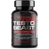 Testo Beast - Hardcore Testosterona para Hombres - Alto en Zinc que contribuye a los niveles normales de testosterona - 120 cápsulas, 30 porciones